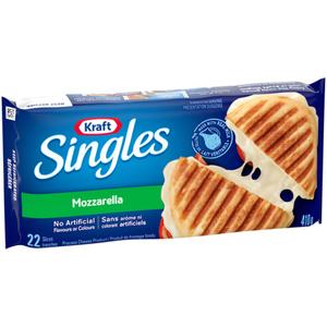 Kraft Singles Mozzarella Processed Cheese Slices 410 g