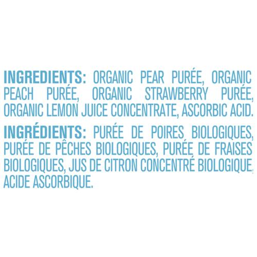 Gerber Organic Purée Pear, Peach & Strawberry 128 ml