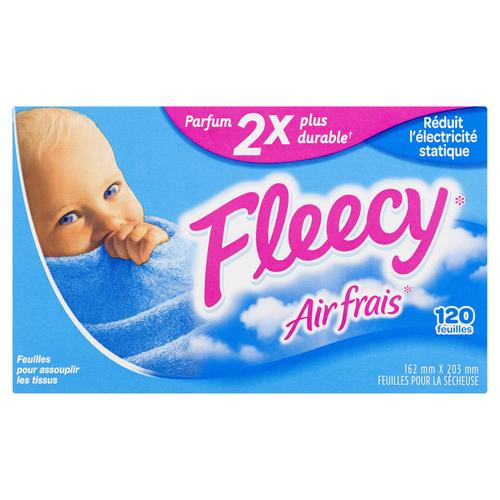 Fleecy Dryer Sheets Fresh Air Scent 120 EA