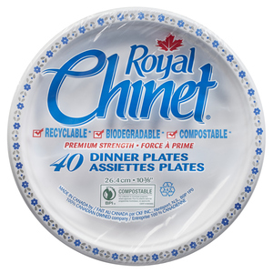 Royal Chinet Dinner Plates 10.38-in 40 EA