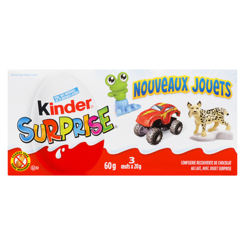 Kinder Surprise Peanut Free Milk Chocolate Eggs 3 x 20 g