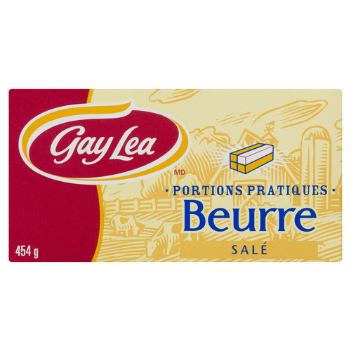 Gay Lea Salted Butter Quarters 454 g