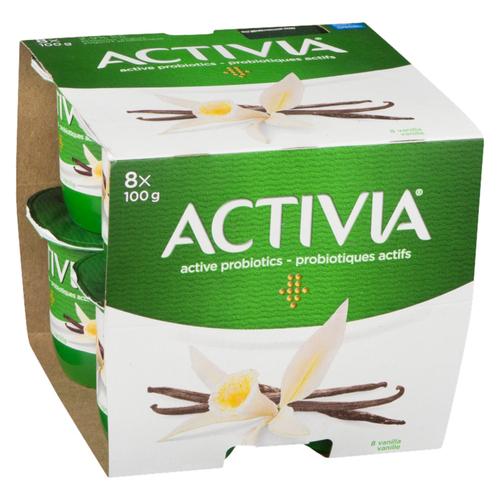 Activia Vanilla Stirred Yogurt 8 x 100 g