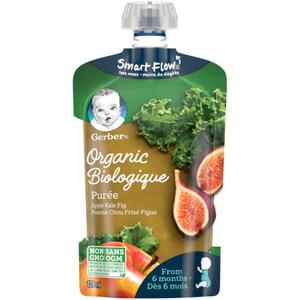 Gerber Organic Purée Apple, Kale & Fig 128 ml
