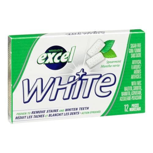 Excel White Spearmint Gum 12 Pieces