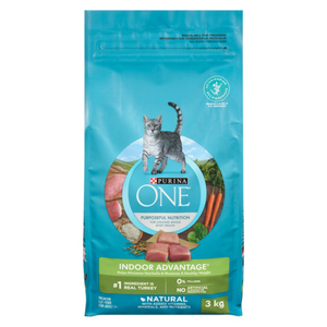 Purina ONE Dry Cat Food Natural Indoor Advantage 3 kg