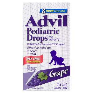 Advil Grape Pediatric Drops 15 ml