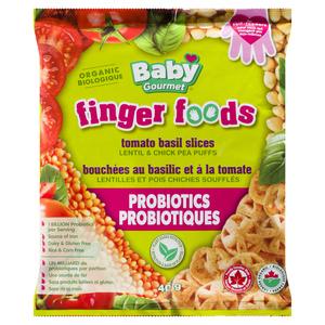 Baby Gourmet Organic Baby Snacks Finger Foods Tomato Basil Slices 40 g