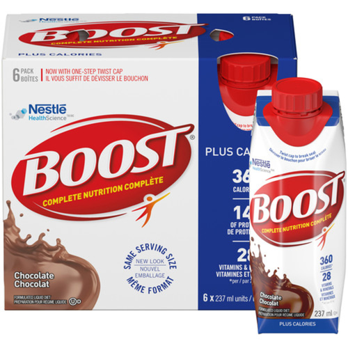 Boost Plus Calories Formulated Liquid Diet Drink Chocolate 6 x 237ml