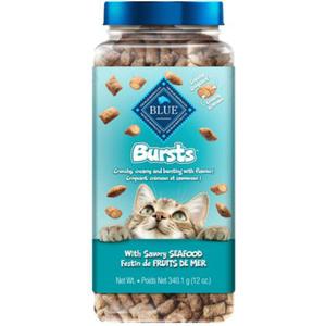 Blue Buffalo Bursts Cat Treats Crunchy Savory Seafood 340 g