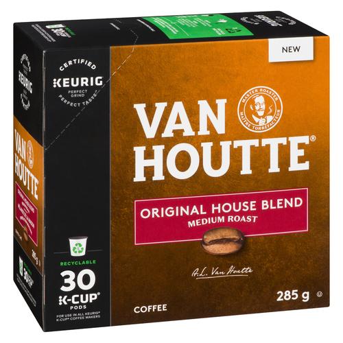 Van Houtte Medium Original House Blend Coffee 30 K-Cups 285 g