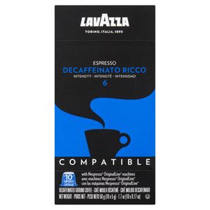 Lavazza Decaffeinato Ricco Espresso Nespresso Coffee 10 Capsules