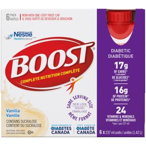 Boost Diabetic Drink Vanilla 6 x 237 ml