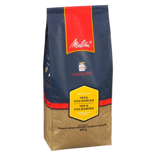 Melitta 100% Colombian Whole Bean Coffee 907 g