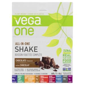 Vega One All-In-One Chocolate Nutritional Shake Powder 10 x 46 g