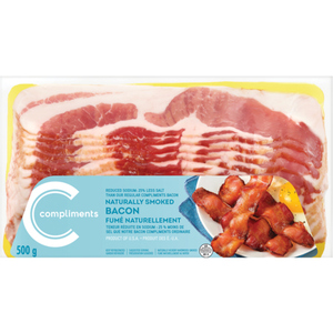 Compliments Regular Low Sodium Bacon 500 g