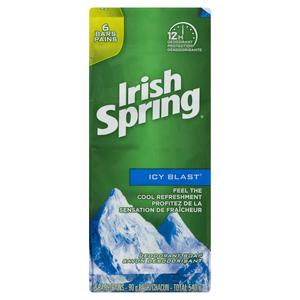 Irish Spring Icy Blast Bar Soap 6 Pack 540 g