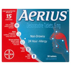 Aerius Desloratadine Tablets 5 mg 30 Tablets