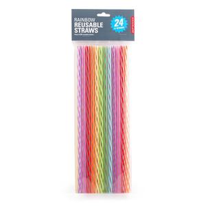 Kikkerland Rainbow Reusable Straws 1 EA