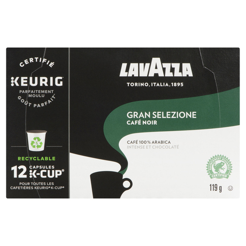 Lavazza Coffee Gran Selezione Dark Roast 12 K-Cups 119 g