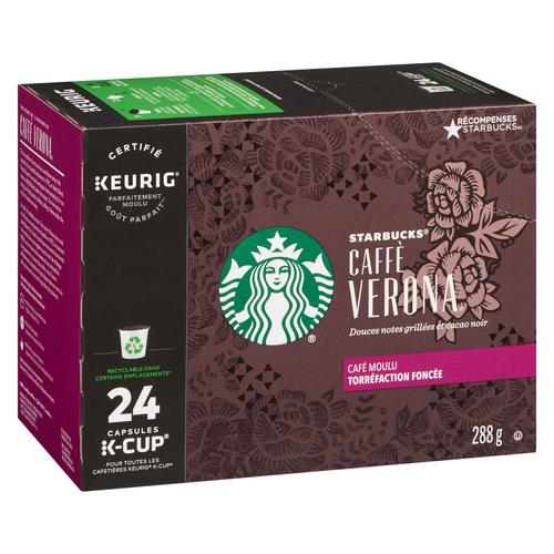 Starbucks Caffè Verona Coffee Pods 24 K-Cup