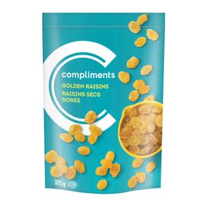 Compliments Golden Raisins Seedless 375 g