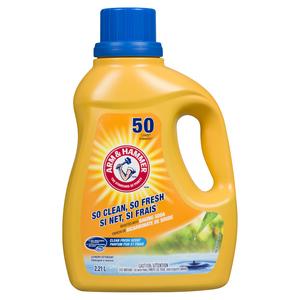 Arm & Hammer Liquid Laundry Detergent Clean Fresh 50 Loads 2.21 L