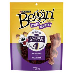Purina Dog Snacks Beggin' Strips With Bacon 708 g
