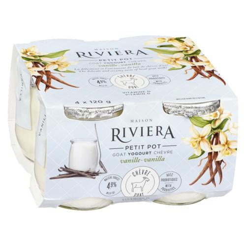 Riviera Goat Yogurt Vanilla 4 x 120 g