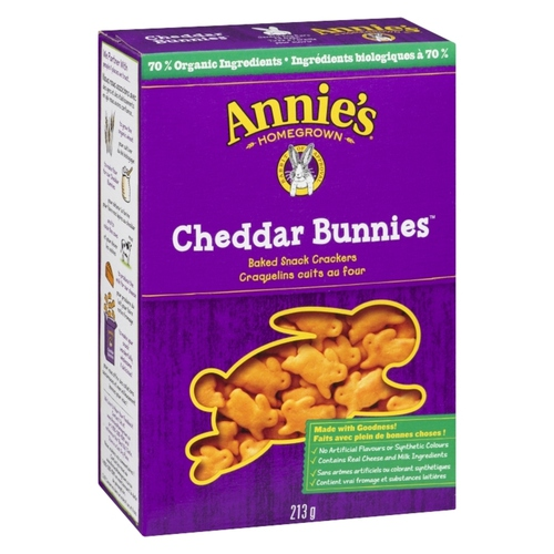 Annie's Homegrown Bunny Cheddar Crackers 213 g