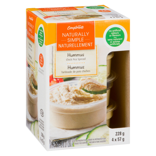 Compliments Naturally Simple Mini Chick Pea Hummus 228 g
