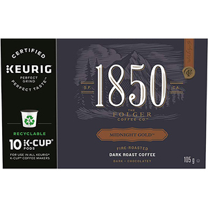 Folgers 1850 Coffee Midnight Gold 10 K-Cups 105 g