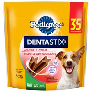 Pedigree Dentastix Oral Care Small Dog Treats Beef Flavour 35 Sticks