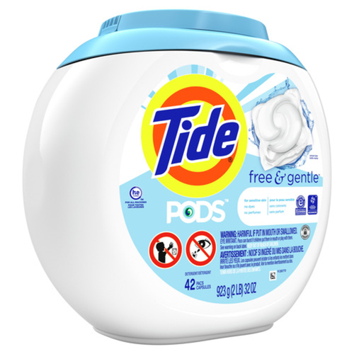 Tide Laundry Detergent Pods Free & Gentle 42 Pacs 923 g