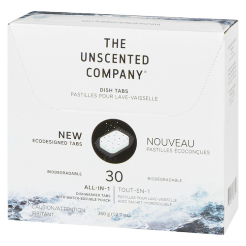 The Unscented Company Dish Tabs Unscented 30 EA