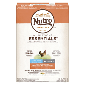 Nutro Wholesome Essentials Chicken, Brown Rice & Sweet Potato Senior Large Breed Dog Food 13.61 kg