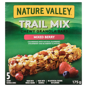 Nature Valley Trail Mix Chewy Granola Bar Mixed Berry 175 g