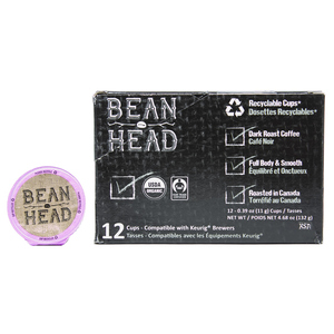 Bean Head Organic Coffee 12 K-Cups 132 g