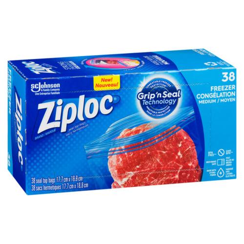 Ziploc Freezer Bags with New Grip 'n Seal Technology Medium 38 Bags