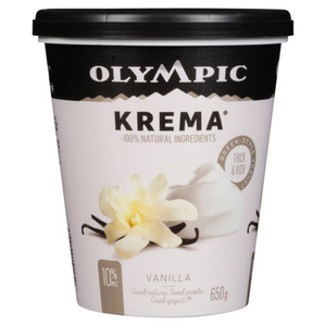 Olympic Krema 10% Yogurt Vanilla 650 g