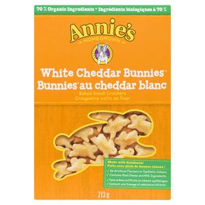 Annie's Homegrown Bunnies White Cheddar Crackers 213 g