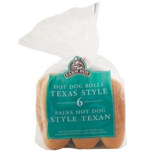 Farm Boy Texas Hot Dog Rolls 6 EA 400 g