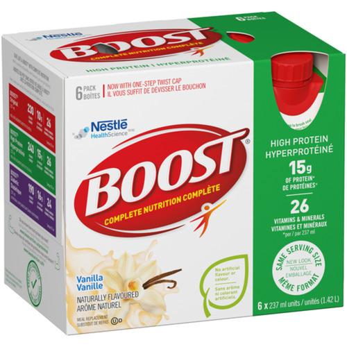 Boost High Protein Powder Vanilla 6 x 237 ml