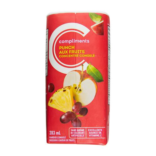 Compliment Frozen Juice Fruit Punch 283 ml