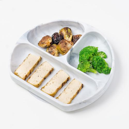 Bumkins Silicone Grip Dish Marble 1 EA