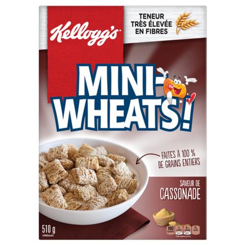 Kellogg's Mini Wheats Brown Sugar Cereal 510 g
