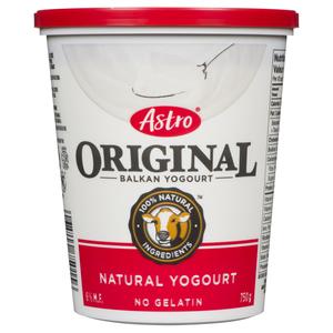 Astro Kosher Original Plain Balkan Yogurt 6% 750 g