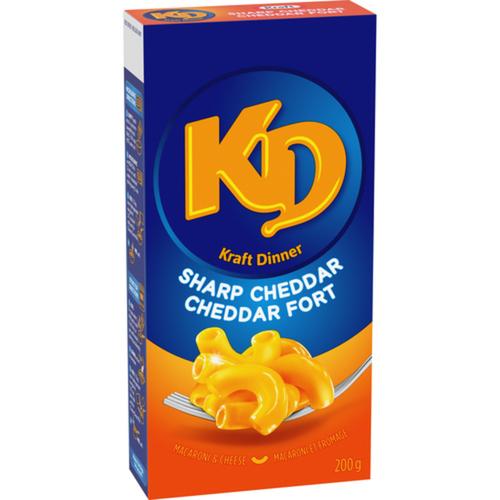 Kraft Dinner Macaroni & Cheese Sharp Cheddar 200 g