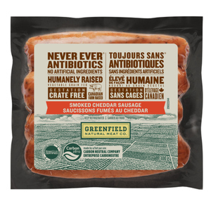 Greenfield Natural Meat Co Smoked Cheddar Sausage 300 g