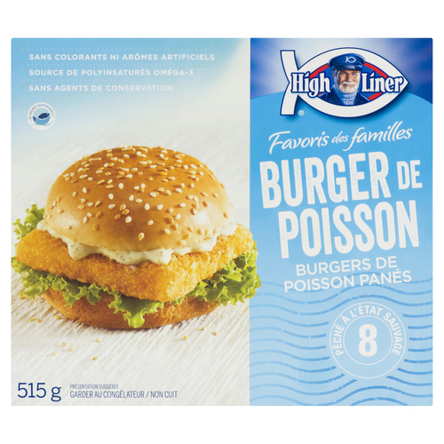 High Liner Family Favourites Breaded Fish Burger 515 g